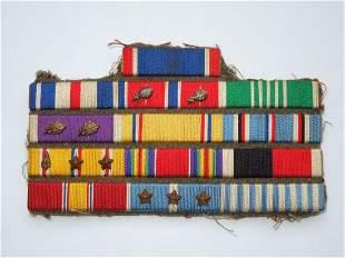 WWII Korea DSC SS Custom Army Officer Ribbon Bar Valor