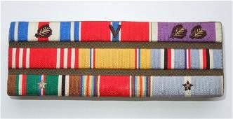 WWII Korea SS PH Custom Army Bullion Ribbon Bar