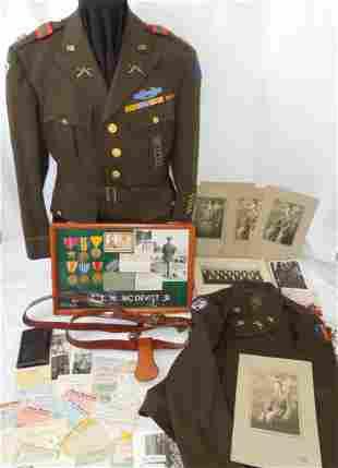 WWII Alaskan Defense 4th Infantry Officer Named Group