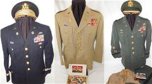 WWII 1960s US Army Infantry Colonel Uniform Lot Dog Tag