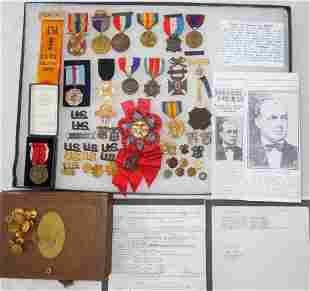 Philippine Insurrection - WWI Officer Medal Badge Group
