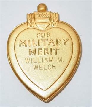 Korean War 7th & 31st Infantry Named Purple Heart Medal