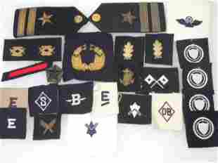 Large Lot of WWII US Navy Patches Insignia and Bullion