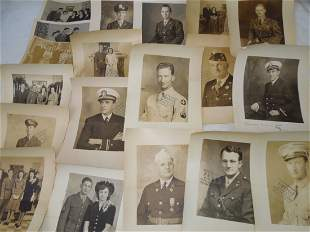 1930s WWII US Military Lot Photo Proofs Uniforms Army