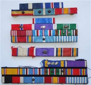 WWII - 60s US Military Purple Heart NC DSC Ribbon Lot