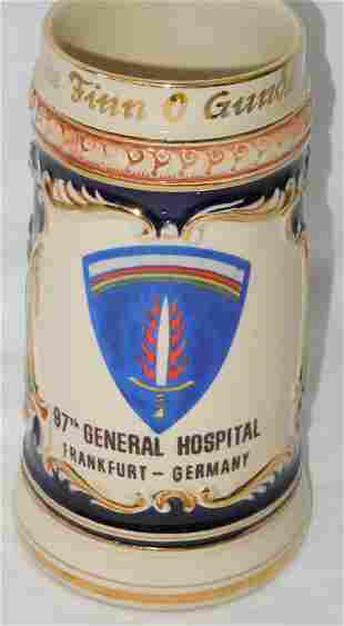 1960 US Army Europe Medical Officer Beer Stein Germany
