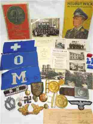 WWII 79th Infantry German Souvenir Bring Backs Badges