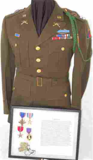 WWII 4th Armored Distinguished Service Cross Capt Group