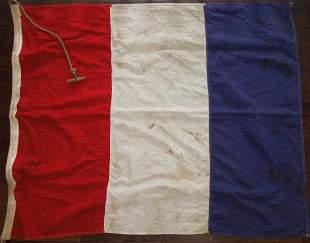 1950s Era French Merchant Marine Vessel Ship Flag