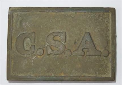 Civil War CSA Confederate Virginia Belt Buckle Dug