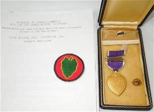 Korean War 24th Infantry KIA Purple Heart Medal Group