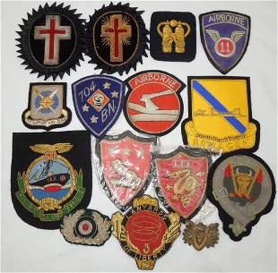 Military & Masonic Bullion Patch Insignia Lot