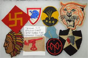 Pre WWII US Army Wool Patch Lot 45th 2nd 27th Divisions