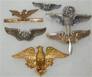 WWII US Army Air Force Wings Badges Lot Gunner Aircrew