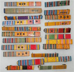 WWII USMC US Navy Wide & Army Ribbon Bars Lot