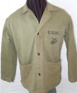 WWII Named 1st MARDIV Okinawa P41 USMC Fatigue Shirt