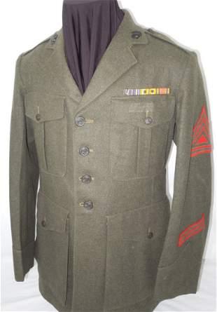 WWII USMC Named 2nd MARDIV Marine Uniform Jacket