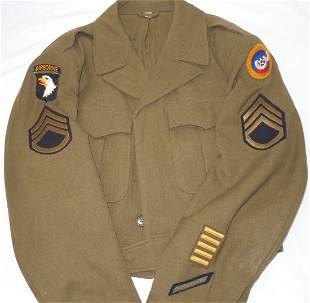 WWII 101st Airborne 3rd AAF US Army Named Ike Jacket