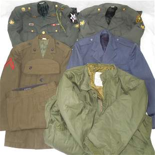 Cold War Uniforms Lot 5 USAF USMC Army 2nd Division