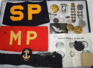Misc. WWI-Vietnam Pins, Insignia, Armbands Lot 173rd