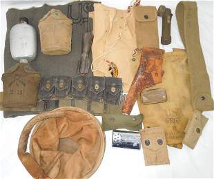 WWI – WWII US Military Field Gear Canteens Holster Belt