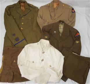 WWII -50s Uniform Lot ROTC USMC AAF Officer 7th Army