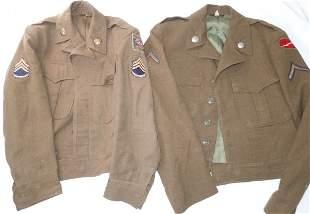 1950s US Army Ike Uniform Jackets 78th Div & GHQ