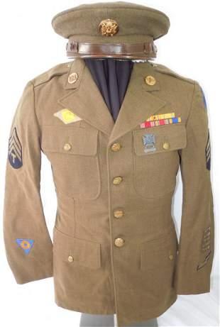 WWII US Army Air Force Air Medal Uniform & Cap