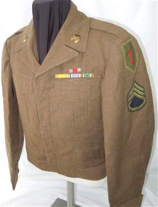 WWII US Army 1st Infantry Division Ike Uniform Jacket