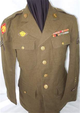 WWII 45th Infantry Div Italian Patch Uniform Jacket BSM