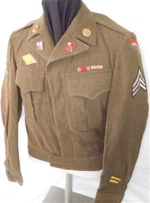 WWII 42nd Inf Div US Army 264th Artillery Ike Jacket