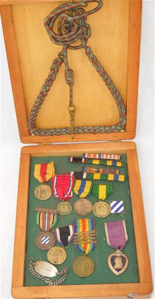 WWI US 3rd Division Purple Heart Mexican Named Medals