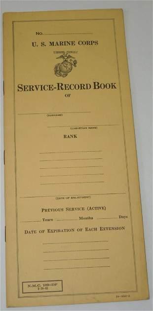 WWII USMC Service Record Book 1942