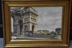 """Aldo Raimondi (1902 - 1998). Watercolor. """"Arc de"""