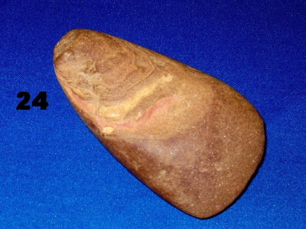 """24: Celt - 4"""" x 2 1/4"""" - Chickasaw Co., MS - Brown Hard"""
