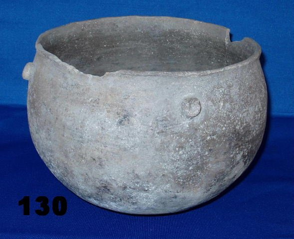 "130: Clay Pot - 9"" x 6 1/2"" - Mississippi Co., AR - Fou"