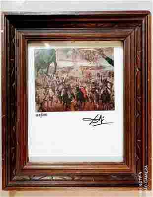 Salvador Dali Original Engraving-Battle of Tetuan