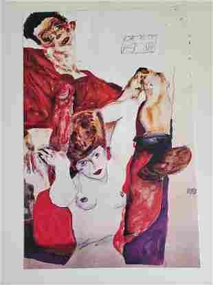 Egon Schiele- Lithograph