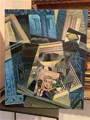 Homage to Juan Gris, acrilyc on canvas