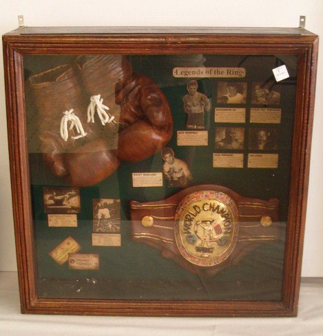 8: WOODEN BOXING SHADOW BOX 24 X 24 X 7
