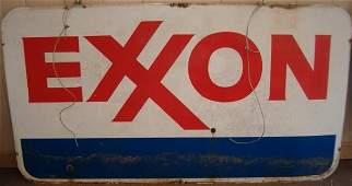 165: LARGE METAL EXXON SIGN 84 X 46