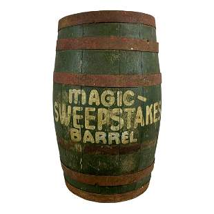 """""""Magic Sweepstakes"""" Painted Barrel"""