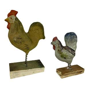 Pair (2) of Squeeker Toy Chickens