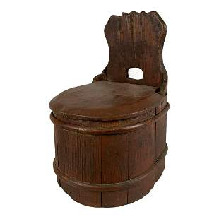 Early Carved Hanging Salt Box