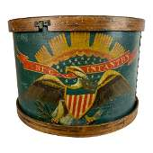 Painted Civil War Drum - A. Rogers / Flushing Long