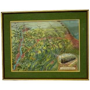 Fox Valley Panaramic Railroad Map