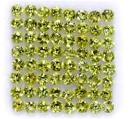 Natural Peridot 2.75 MM Round Faceted Cut 100 Pieces