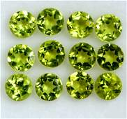 Natural Peridot 6 MM Round Faceted Cut 50 Pieces