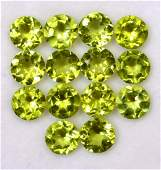 Natural Peridot 7 MM Round Faceted Cut 50 Pieces