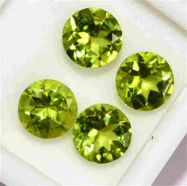 Natural Peridot 8 MM Round Faceted Cut 25 Pieces